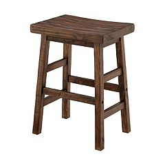 Alaterre Furniture Pomona Farmhouse Wood Counter Stool