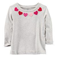 Girls 4-8 Carter's Felt Heart Neckline Top
