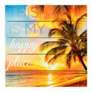 "New View ""Happy Place"" Planked Wall Decor"