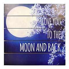 New View 'Love You' Planked Wall Decor