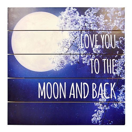 """New View """"Love You"""" Planked Wall Decor"""