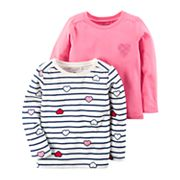 Girls 4-8 Carter's 2 pkLong Sleeve Tees