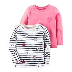Girls 4-8 Carter's 2-pk. Long Sleeve Tees