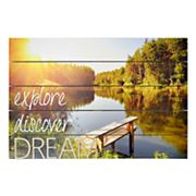 New View 'Explore' Planked Wall Decor