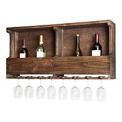 Alaterre Furniture Pomona Farmhouse Wood Wine Rack