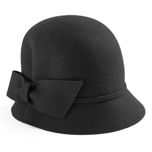 Women's Betmar Dixie Wool Bow Cloche Hat