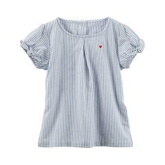 Girls 4-8 Carter's Striped Bow Sleeve Top