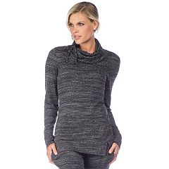 Women's PL Movement by Pink Lotus Cowl Neck Pullover Top