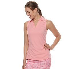 Women's Grand Slam Golf Collared V-Neck Tank