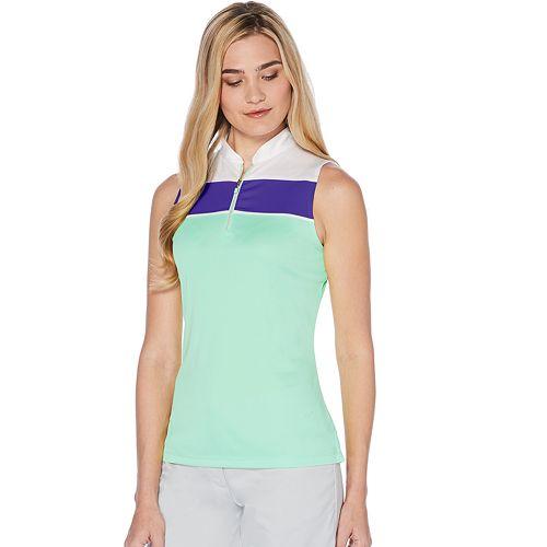 Women's Grand Slam Color Block Sleeveless Golf Top