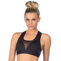 PL Movement by Pink Lotus Bras: Mesh Inset Medium-Impact Sports Bra PT8JV55