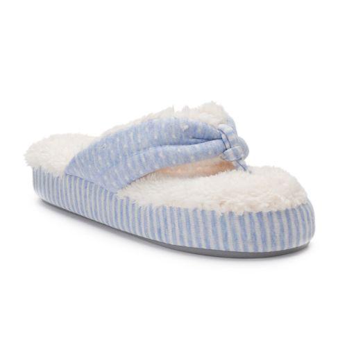 Women's Dearfoams Mixed Print ... Foam Slippers