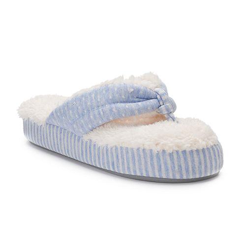 Women's Dearfoams Mixed Print Foam Slippers