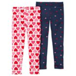 Girls 4-8 Carter's 2 pkHeart Print Leggings