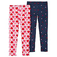 Girls 4-8 Carter's 2-pk. Heart Print Leggings