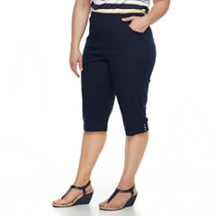 Plus Size Croft & Barrow® Pull On Capris