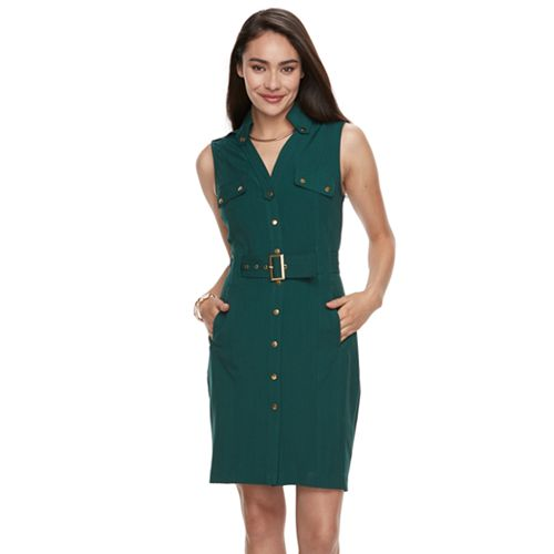 4a95367d6fe Women s Sharagano Sleeveless Shirt Dress