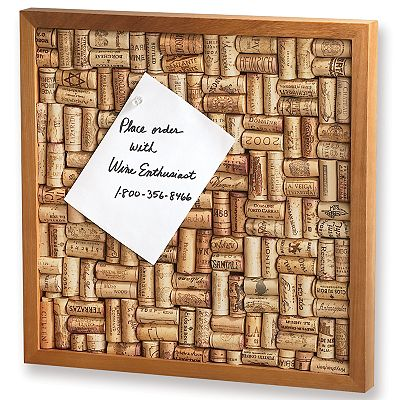 Wine Enthusiast Cork Bulletin Board Kit