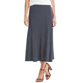 Petite Chaps Diagonal Stripe Midi Skirt