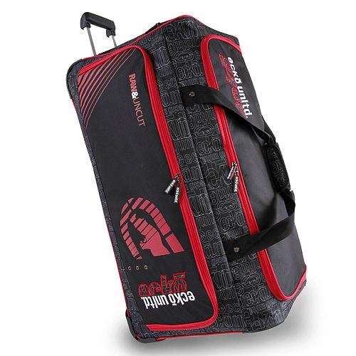 f5a7655daac4 Ecko Unltd Black Top Large 32-Inch Wheeled Duffel Bag