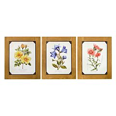 New View Floral Wall Art 3-piece Set