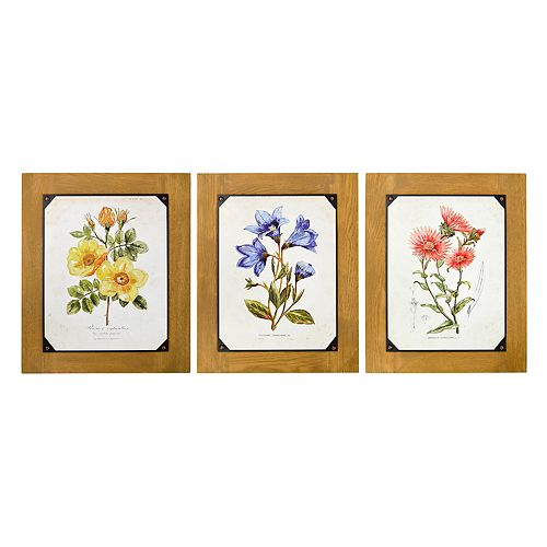 New View Floral Wall Art 3-piece Set