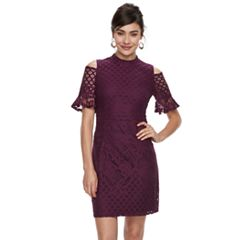 Women S Sharagano Crochet Lace Cold Shoulder Dress