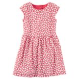 Girls 4-8 Carter's Heart Cutout Printed Dress