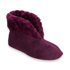 Women's Dearfoams Quilted Cuff Velour Slippers