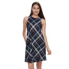 Women's Sharagano Plaid Swing Dress