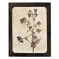 New View Rustic Botanical Flowers Wall Art