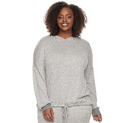 Plus Size SONOMA Goods for Life™  Drawstring Hem Hoodie