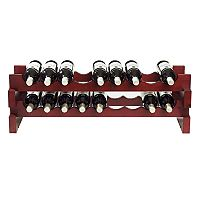 Wine Enthusiast 26-Bottle Stackable Rack - Mahogany