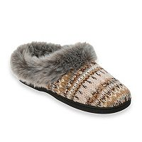 Women's Dearfoams Lurex Knit Clog Slippers