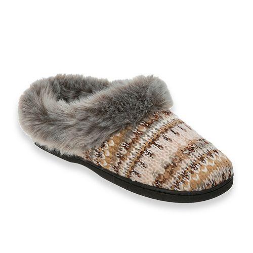 Dearfoams Lurex Knit Clog Slippers