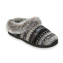Women's Dearfoams Lurex Knit Clog Slippers