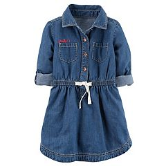Girls 4-8 Carter's 'Smile' Chambray Shirt Dress