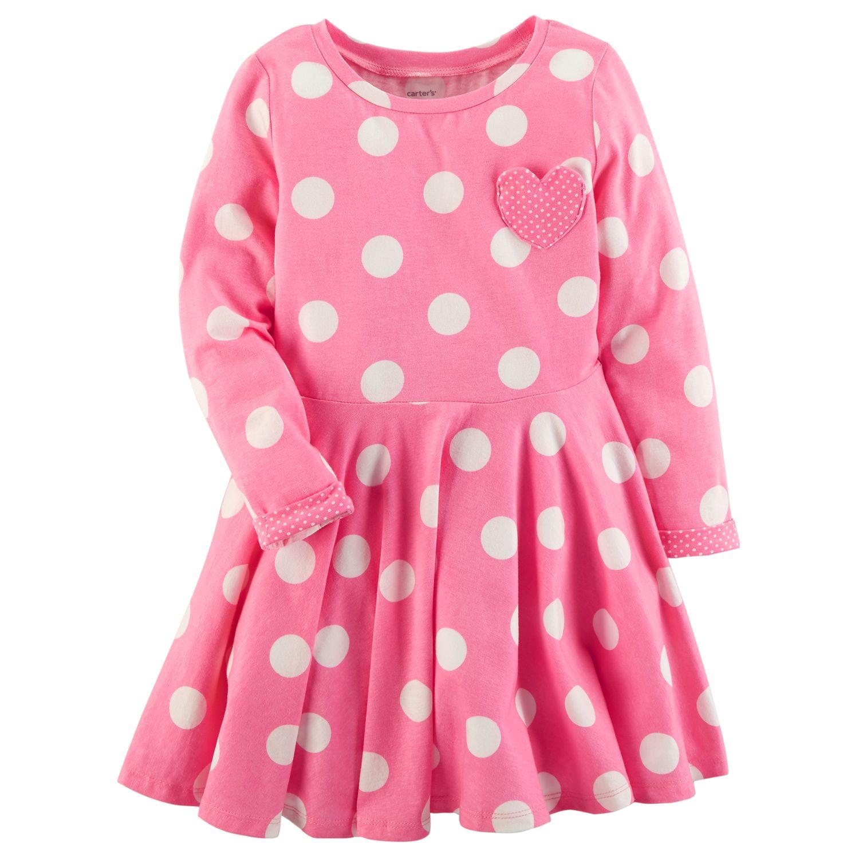 Girls 4 8 Carteru0027s Polka Dot Dress