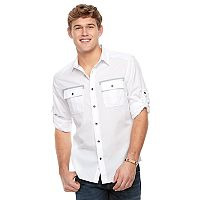 Men's Rock & Republic Button-Front Roll-Tab Shirt
