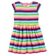 Girls 4-8 Carter's Heart Cutout Striped Dress