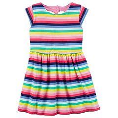 Girls 4-8 Carter's Heart Cutout Striped Dress