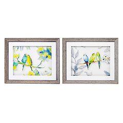 New View Love Birds Framed Wall Art 2-piece Set