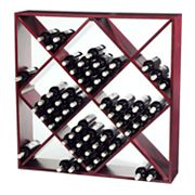 Wine Enthusiast Jumbo 120-Bottle Rack - Mahogany