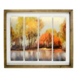 New View Fall Landscape Framed Wall Art