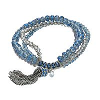 Simply Vera Wang Nickel Free Beaded Stretch Bracelet
