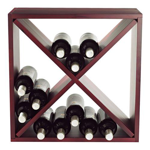 Wine Enthusiast Compact Cellar Cube - Mahogany