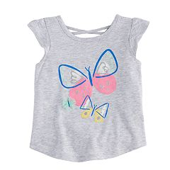 Baby Girl Jumping Beans® Butterfly Flutter-Sleeved Tee