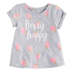 Baby Girl Jumping Beans® 'Berry Happy' Swing Tee