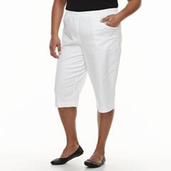 Plus Size Croft & Barrow® Simple Vented Capris