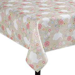 Celebrate Easter Together Bunny Print Tablecloth